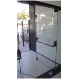 porta de vidro temperado de abrir preço São Roque
